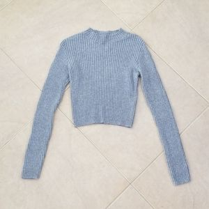 Brandy Melville Grey Croptop Sweater NWOT